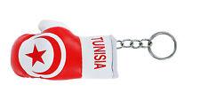 mini boxing gloves keychain keyring key chain ring NEW leather Flag TUNISIA