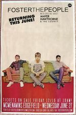 FOSTER THE PEOPLE 2012 Gig POSTER Edgefield Portland Oregon Concert