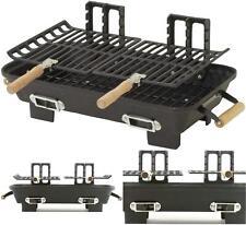Hibachi Grill Cast Iron Charcoal 10x18 Portable Rv Tailgating Bbq Accessories