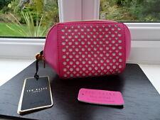 100% Authentic Ted Baker Puncured Leather Pink Make up/Wash Bag BN
