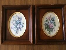 Flemish School Flowers Vintage Framed Floral Pictures Hand Made In Florence