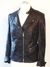 Gerry Weber Damen Blazer Gr. 44 Leder Jacke Cardigan Pullover