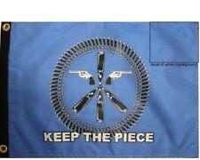 "12x18 Keep the Peace Pirate Guns Flag 12""X18"" Double Sided Nylon Boat Flag"