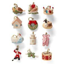 Lenox Twelve Days Of Christmas Mini Tree Ornaments - New