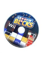 Groovin' Blocks (Nintendo Wii, 2009) DISC ONLY Puzzle Strategy Game Tested Works