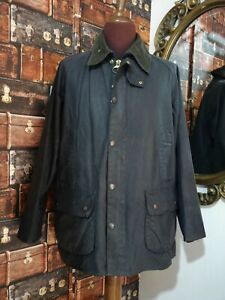 barbour bedale jacket waxed cotton blu + spilla giacca   c42-107 l