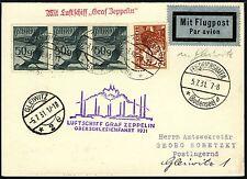 148/Zeppelin Österreich 1931 Oberschlesienfahrt Postkarte Zuleitungspost Si 115