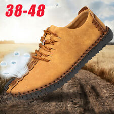 Men's Driving Moccasins Hiking Casual Boat Shoes Leather Shoes Slip On Loafers