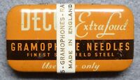 Decca Extra Loud Gramaphone Needles, full unused tin with label, Sheffield Steel