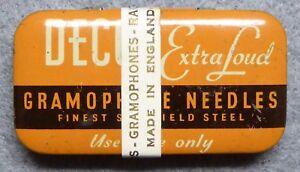 Decca Extra Loud Gramaphone Needles, full unused tin with label, Sheffield Steel
