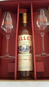 Lillet Blanc Aperativo 17 % 0,75 l mit 2 Lillet Gläser als Geschenkset