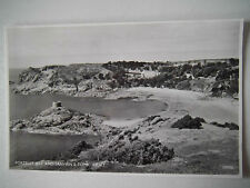 Portelet Bay & Janvrins Tomb Jersey Real Photograph Old Postcard Salmon Series