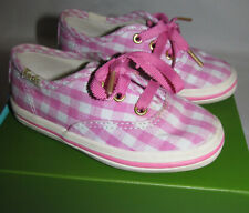 Keds for Kate Spade Pink Champ Gingham Plaid Tennis Shoes Toddler Girls Size 6 M