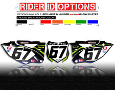 2010- 2015 KAWASAKI KLX 110 NUMBER PLATE CUSTOM BACKGROUND GRAPHICS THICK DECALS
