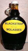 Organic BLACKSTRAP MOLASSES Pancake & Waffle Syrup, 12 oz. Bottle, FREE SHIPPING