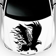 Car Hood Decals Eagle Bird Fire Predator Firebird Vinyl Sticker Decor DA30