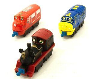 Ludorom PLC Chuggington 3x Train Stacktrack Wilson Puffer Pete 2010 Diecast I208