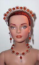 OOAK Doll/Tonner Crown - Necklace - Earring Silver  Set- U Pick Color