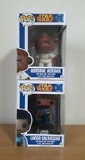 Funko pop Star Wars Admiral Akbar 28 Lando Calrissian 30 Free 2 pop protectors