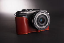 Handmade Genuine real Leather Half Camera Case bag cover for Olympus Epl7 E-Pl7
