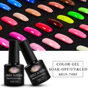 MEET ACROSS Nail Art Gel Color Polish Soak-off UV/LED Manicure DIY Varnish 7ml