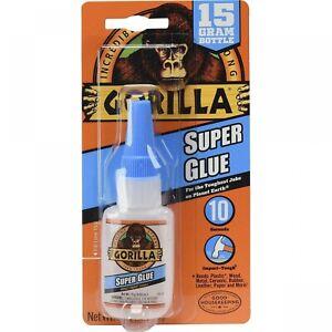 Gorilla Super Glue 15 Gram, Clear, (Pack of 1) 1 - Pack Super Glue Gorilla Glue