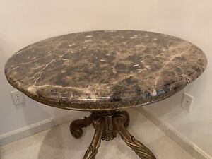 marge carson bellagio lamp table marble top madeira marble