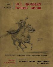 1963 8th Annual Scottsdale All Arabuan Horse Show Program