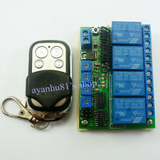 DC 12V 4CH 433M Delay Timer RF Wireless Relay Controller Switch & EV1527 remote