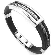 Buy Bangle Rubber Bracelets For Men Ebay