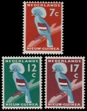 ✔️ NETHERLANDS NEW GUINEA 1959 - FAUNA BIRDS CROWNED PIGEON - MI. 54/56 ** MNH
