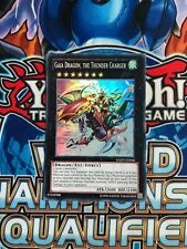 Yugioh, GAOV-EN046, Gaia Dragon, The Thunder Charger, Super Rare, Unlimited, Nm
