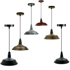 Vintage True Colour Old Industrial Factory Enamel Light Shade Aluminum