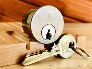 Yale 6-Pin Security Mortise Lock Cylinder w/ 2 Keys Locksport