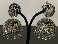 Indian Silver Color Jumki Jhumka Big Latest Design Party Wear Earrings