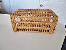Tissue Box Cover NATURAL Wicker rattan Bathroom Accessories Holder Basket  c all