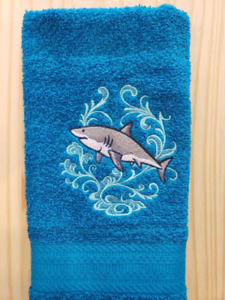 SHARK ECHO HAND TOWEL SET CUSTOM EMBROIDERED
