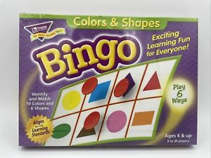 Trend Enterprises Colors And Shapes Bingo, New And Factory Sealed
