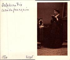 Actrice Théâtre, La comédienne Delphine Fix de la Comédie Française Vintage CDV
