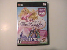 Barbie and the Three Musketeers  (PC, 2009) disc is Near Mint condition