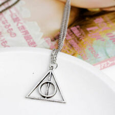 Harry Potter The Deathly Hallows Pendant Charm Talisman Silver Chain Necklaces
