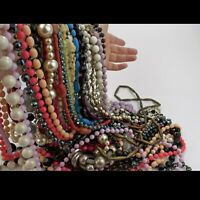 Necklace Bundle Mostly Vintage Lucite, 40 items Joblot, Resell Market Carboot