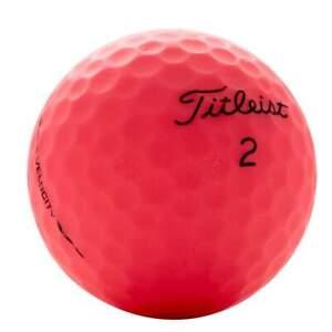 Titleist Velocity Matte Pink AAA 24 Pack Used Golf Balls 3A