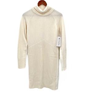 ATHLETA Womens Size Large Ivory Mesa Hybrid Sweater Dress NWT $158