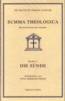 Summa Theologica - Die Deutsche Thomas-Ausgabe. Band 12 / Die Sünde: BD 12