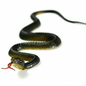 Realistic Manmade Soft Rubber Animal Fake Snake Garden Props Sale Toy-US Z9R8