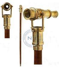 New listing Maritime Nautical Walking Stick Vintage Telescope Handle Wooden Brown Cane Gift