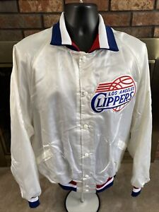 Vintage Los Angeles Clippers NBA Basketball Snap Satin Jacket Mens Size XXL Vtg