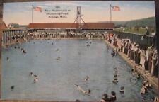 Montana Postcard NEW NATATORIUM Swimming Pool Pond 1920s Billings Mont JLRobbins