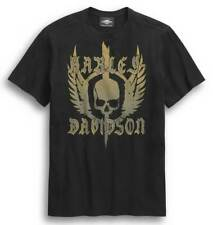 Harley-Davidson ® para hombre Cráneo con alas de manga corta Camiseta